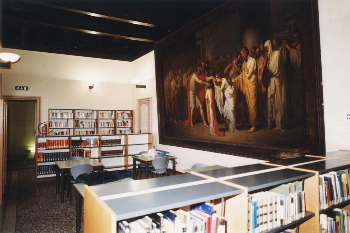 salone di lettura al primo piano
